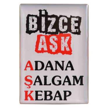 Adana Temalı Myros Dikdörtgen Magnet 80x55 mm - Thumbnail