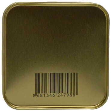 Alaçatı Bölgesi Temalı Myros Kare Metal Kutu 75x75x35 mm - Thumbnail