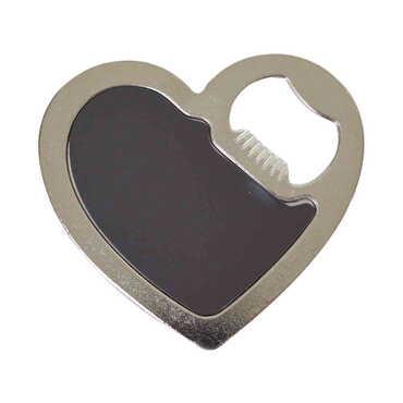 Alanya Temalı Myros Metal Kalp Açacak Magnet 85x76 mm - Thumbnail