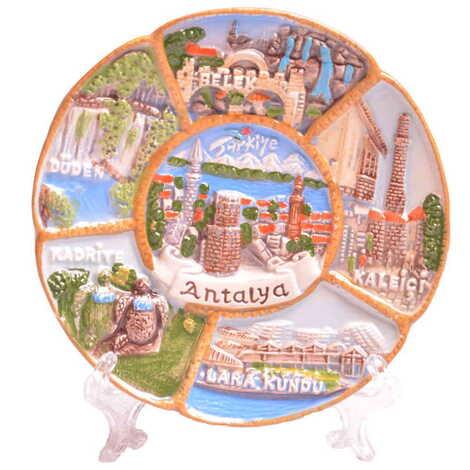 Antalya Bölgesi Temalı Tabak 10 cm