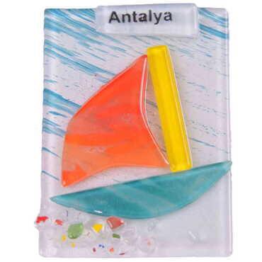 Antalya Temalı Cam Magnet - Thumbnail