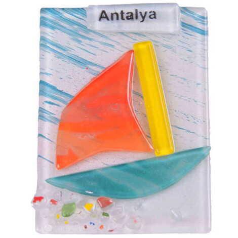 Antalya Temalı Cam Magnet