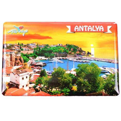 Antalya Temalı Myros Dikdörtgen Magnet 80x55 mm