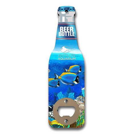 Aquapark Temalı Myros Ahşap Bira Şişesi Açacak Magnet 200x59 mm
