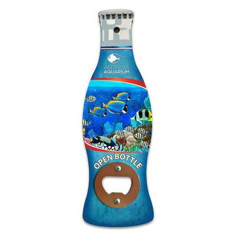 Aquapark Temalı Myros Ahşap Cola Şişesi Açacak Magnet 200x66 mm
