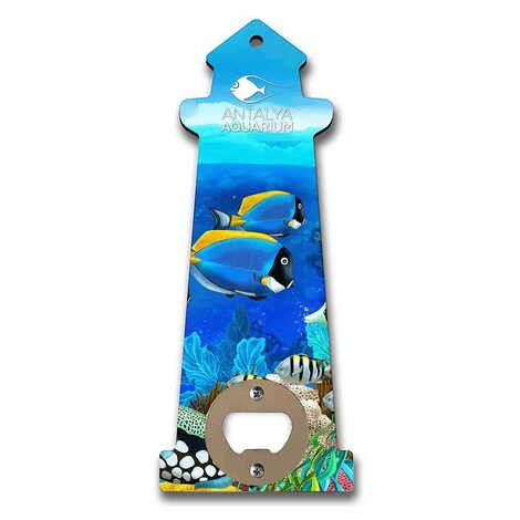 Aquapark Temalı Myros Ahşap Deniz Feneri Açacak Magnet 188x77 mm