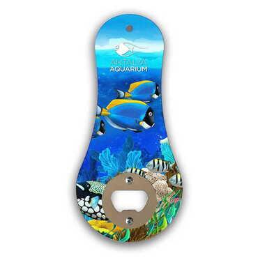 Aquapark Temalı Myros Ahşap Klasik Açacak Magnet 170x79 mm - Thumbnail