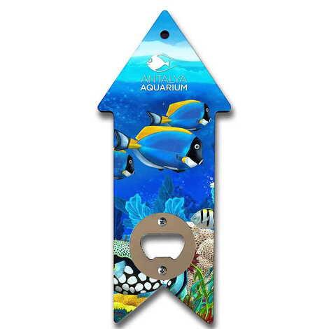 Aquapark Temalı Myros Ahşap Ok Açacak Magnet 193x82 mm