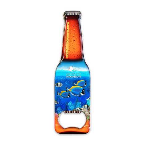 Aquapark Temalı Myros Metal Bira Şişesi Açacak Magnet 130x39 mm
