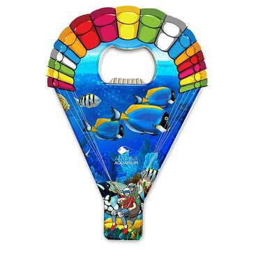 Aquapark Temalı Myros Metal Paraşüt Açacak Magnet 113x75 mm - Thumbnail