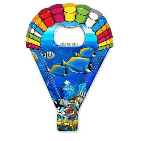 Aquapark Temalı Myros Metal Paraşüt Açacak Magnet 113x75 mm