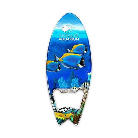Aquapark Temalı Myros Metal Sörf Açacak Magnet 128x45 mm