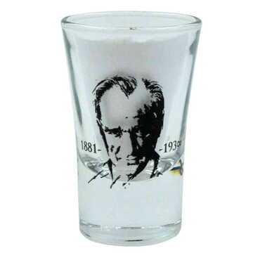 Atatürk Temalı İkili Shot Bardak - Thumbnail