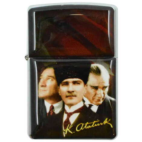 Atatürk Temalı Myros Benzinli Çakmak