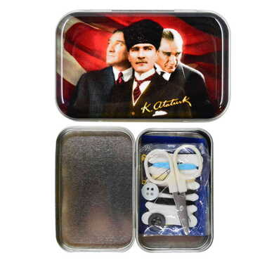Atatürk Temalı Myros Metal Dikiş Seti 63x44x17 mm - Thumbnail