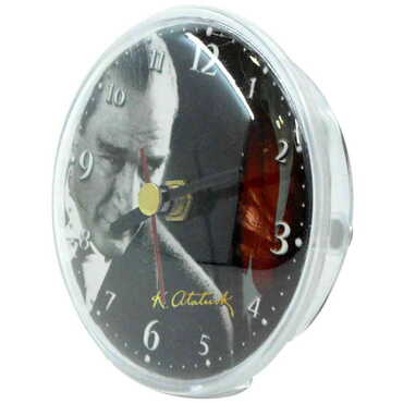Atatürk Temalı Myros Plastik Saat Magnet - Thumbnail