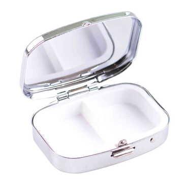 Baskısız Metal Dikdörtgen Hap Kutusu 57x45x15 mm - Thumbnail