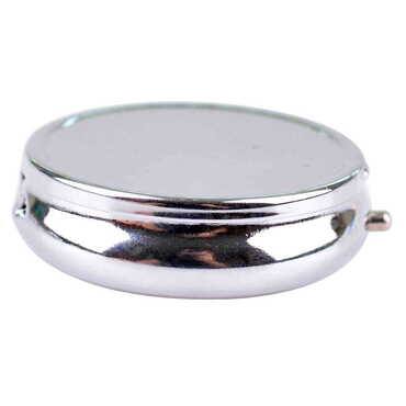 Baskısız Metal Yuvarlak Hap Kutusu 50x15 mm - Thumbnail