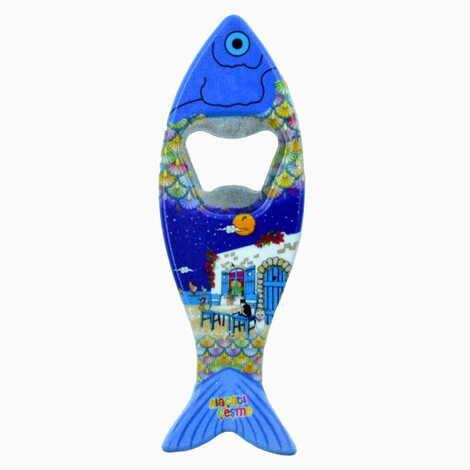 Baskısız Plastik Balık Açacak Magnet 42x130 mm