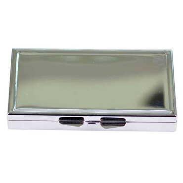 Baskısz Metal Aynalı Dikdörtgen Hap Kutusu 84x45x13 mm - Thumbnail