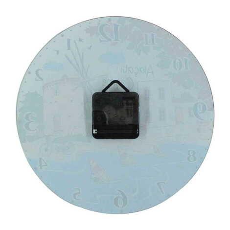 Baykuş Temalı Dekorlu Cam Saat 25 cm