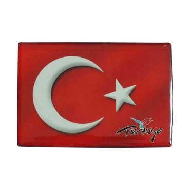 Bayrak Temalı Myros Dikdörtgen Magnet 80x55 mm - Thumbnail
