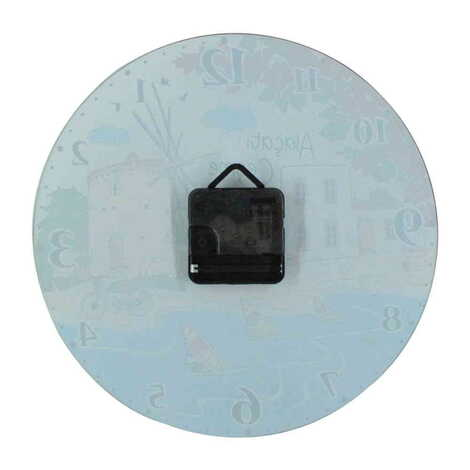 Belek Temalı Dekorlu Cam Saat 25 cm