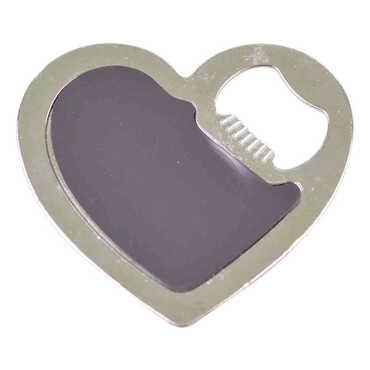 Belek Temalı Myros Metal Kalp Açacak Magnet 85x76 mm - Thumbnail