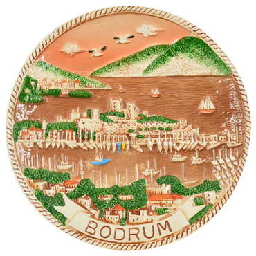 Seramik Kahverengi Bodrum Tabak 10 cm - Thumbnail