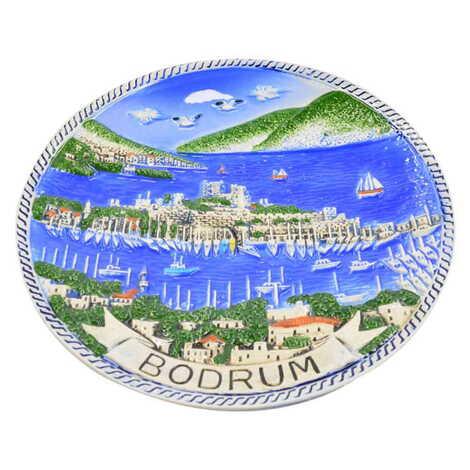 Seramik Mavi Bodrum Tabak 15 cm