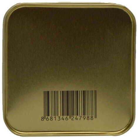 Çeşme Temalı Myros Kare Metal Kutu 75x75x35 mm