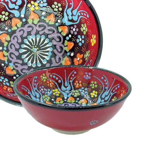 Çini Kabartma Kase 13 cm