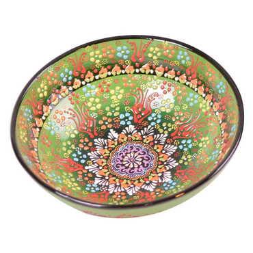 Çini Kabartma Kase 25 cm - Thumbnail