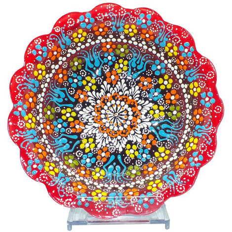 Çini Kabartma Papatya Kase 20 cm