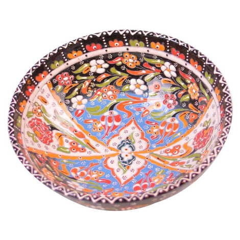 Çini Kase Kazıma Kabartma 25 cm