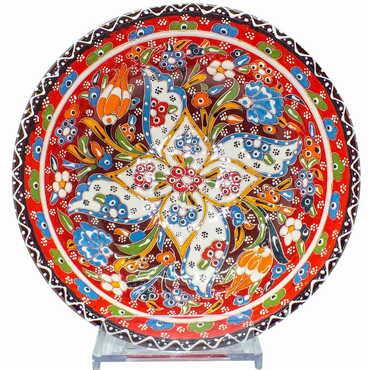 Çini Kazıma Kabartma Kase 20 cm - Thumbnail