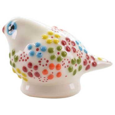 Çini Küçük Güvercin Kabartma Biblo - Thumbnail
