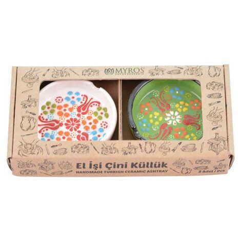 Çini Küllük Küçük İkili Set 7,5 cm