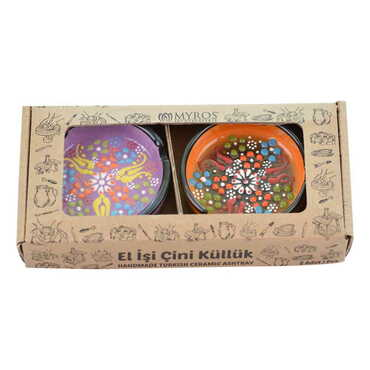 Çini Küllük Küçük İkili Set 7,5 cm - Thumbnail