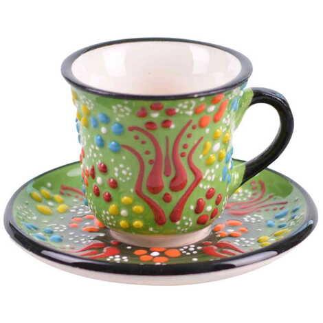 Çini Myros Dörtlü Kahve Seti