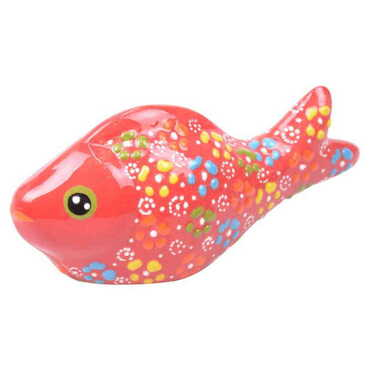 Çini Orta Balık Kabartma Biblo - Thumbnail
