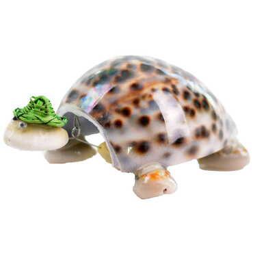 Deniz Kabuğu Şapkalı Kaplumbağa Biblo - Thumbnail
