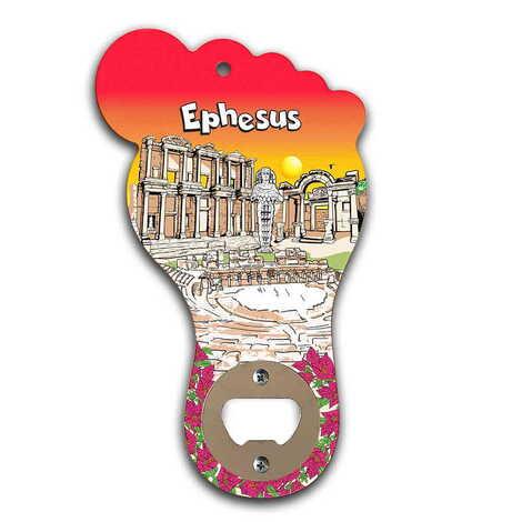 Efes Temalı Myros Ahşap Ayak Açacak Magnet 160x92 mm