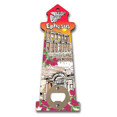 Efes Temalı Myros Ahşap Deniz Feneri Açacak Magnet 188x77 mm