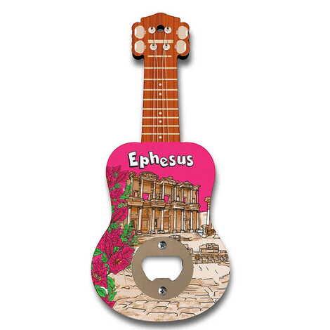 Efes Temalı Myros Ahşap Gitar Açacak Magnet 200x89 mm
