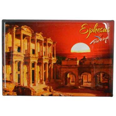 Efes Temalı Myros Dikdörtgen Magnet 80x55 mm - Thumbnail