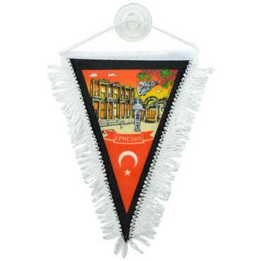 Efes Temalı Üçgen Flama 10X15 cm - Thumbnail