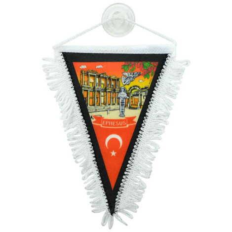 Efes Temalı Üçgen Flama 10X15 cm