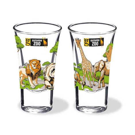 Hayvanat Bahçesi Temalı Baskılı Shot Bardak 45x70 mm