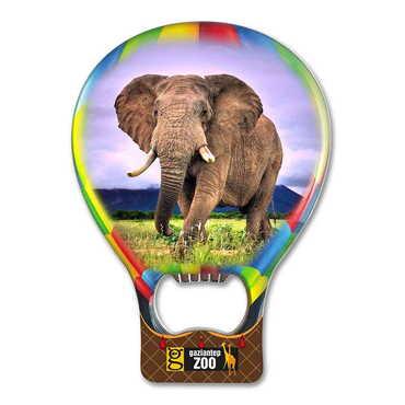Hayvanat Bahçesi Temalı Myros Metal Balon Açacak Magnet T 102x73 mm - Thumbnail